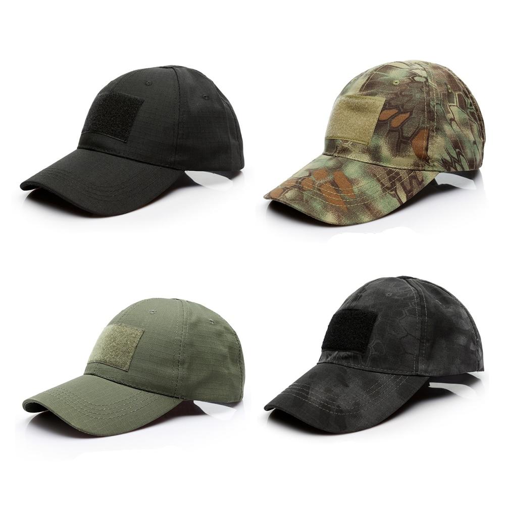 Baseball Cap Canvas Hat Mens Army Camo Military Sport Strapback Visor