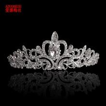 AINAMEISI New Bridal Princess Crown Headband Crystal Tiaras and Crowns HairBand Rhinestone Wedding Jewelry Hair Accessories недорого