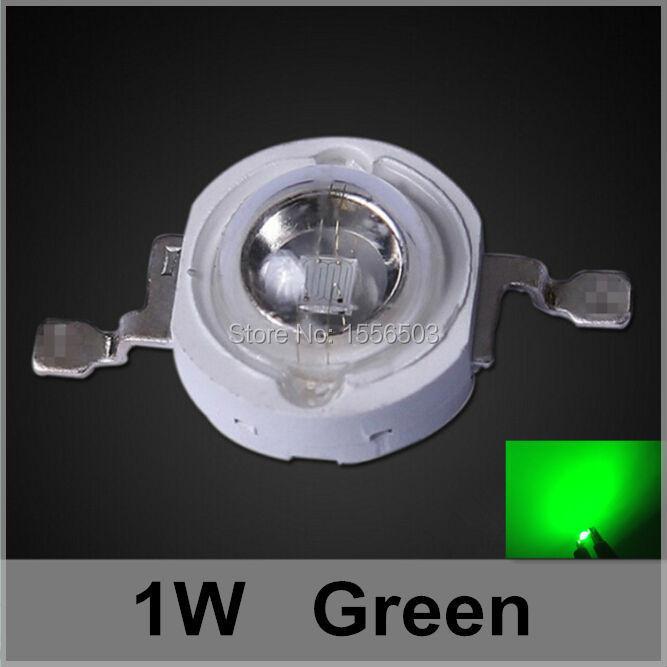 50 Pcs/lot LED Chip Beads 1W Green High Power LEDs Balls Light Source LED Lamp Emitting Green Diode