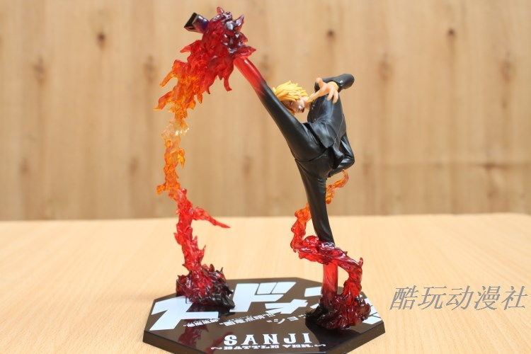 Free Shipping Cool 6.8 One Piece Anime Black Leg Sanji Fire Battle Version Boxed PVC Actiong Figure Collection Model Toy  #034 black leg sanji japan anime one piece action figure fire battle version 16cm pvc model toy with box collection doll toys f2722