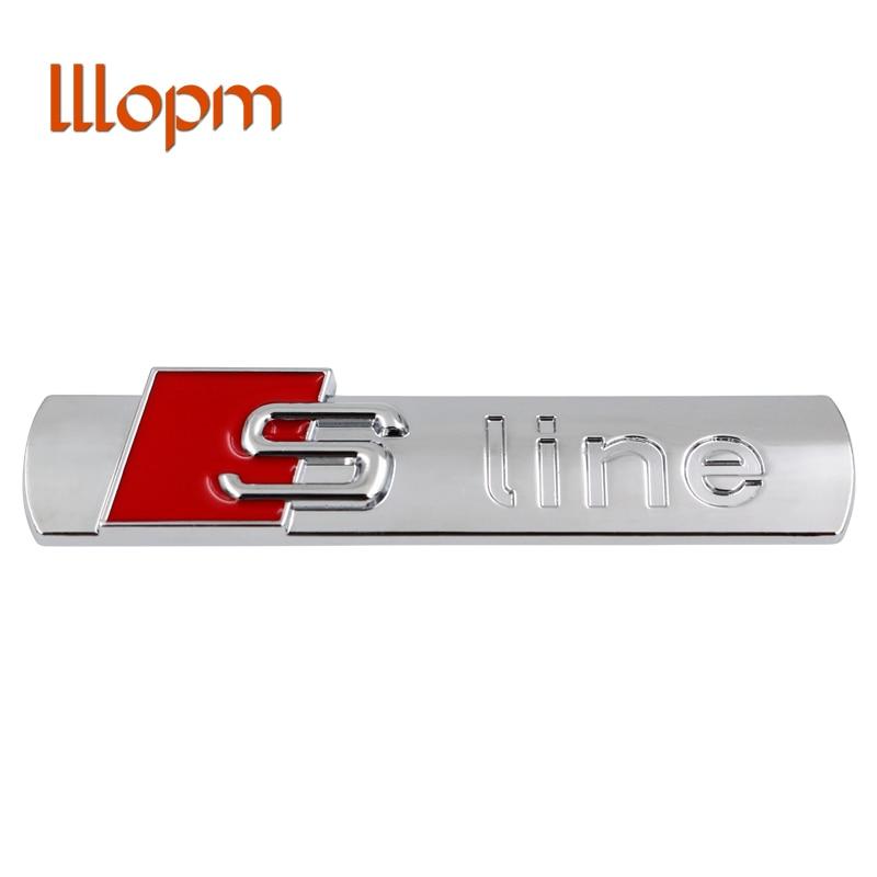 3D S Line Sline Car Front Grille Emblem Badge Stickers Accessories Styling For Audi A1 A3 A4 B6 B8 B5 B7 A5 A6 C5 C6 A7 TT