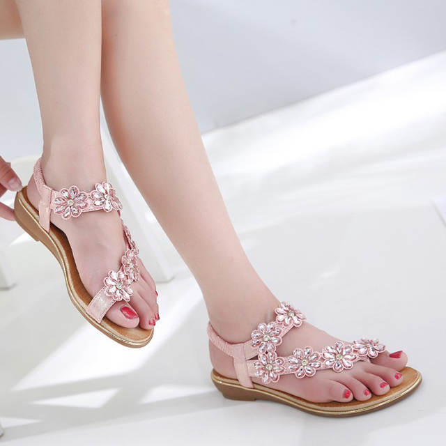 placeholder SIKETU Women Wedding Bridal Bridesmaid Shoes Flip Flop Ring Toe  Bohemian Sandals Floral Rhinestone Crystal Silngback 3d8ff16236f3