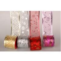 10PCS 2 7M Roll Ribbon Christmas Banquet Decorations Fashion Elegant Party Shining Ribbon Wholesale Gift Packing