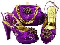 De Calidad superior Rhinestone Italiano Zapatos y bolso de Tarde de La Boda Zapatos Y Bolsa de Zapatos y Bolsa de Conjunto de Boda Popular MM1052