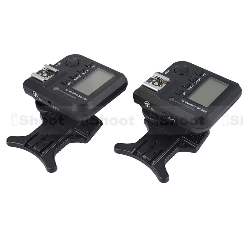 iShoot 100m 3G 3in1 Transceiver Wireless Flash Trigger Camera Remote Control for Canon Nikon Pentax Speedlite&Studio Strobe