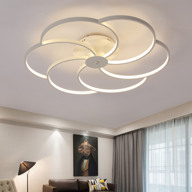 Led Living Room Ceiling Lamps Modern Novelty Lights Personality Creative Bedroom Fixtures Diningroom Lig