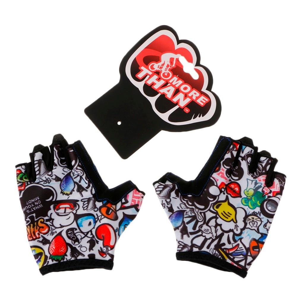 Детские велосипедные перчатки с полупальцами для катания на коньках на горном велосипеде, спортивные перчатки для мальчиков и девочек