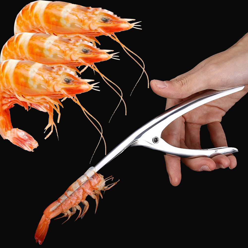 Stainless Steel Prawn Peeler Shrimp Prawn Deveiner Peel Device Creative Kitchen Cooking Seafood Tools Kitchen Gadgets /D64(China)