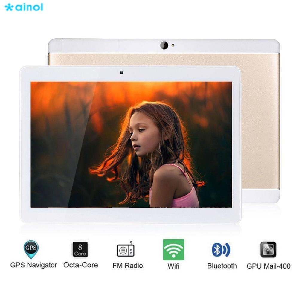 Ainol 1280*800 10.1 Inch Android Tablets PC 16G/32G 8000mAh Dual Cameras Octa Core OTG 3G WCDMA Metal Tablets EU Plug цены