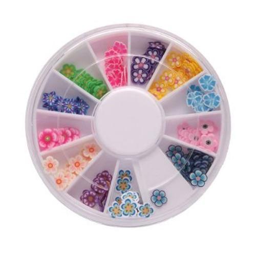 Melhor Venda 144 Pcs Pro Caixa de Flor 3D Nail Stickers Slice Nail Art  Decoração Fimo DIY Meninas c57c2ce185