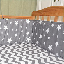 120*29cm (1pcs bumper only)Fashion hot crib bumper infant bed,baby bed bumper clauds/star/dot/tree,safe protection for baby use 4pcs include 1pcs big crown shape crib headrest cushion 1pcs long side mesh bumper 1pcs end cotton bed bumper 1pcs bed sheet
