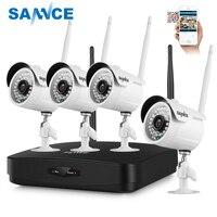 SANNCE Full HD 1080P 4CH Wireless NVR CCTV System IP Camera 2MP WI FI Waterproof IR Night Vison Security Camera Surveillance Kit