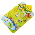 9 Estilos Crianças Piano YIQU Musical Toque em Reproduzir Mat Crawl Bebê Do Divertimento Feliz Fazenda Brinquedo de Criança Presente de Natal Xmas
