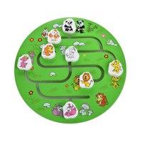 Kids Montessori Educational Wooden Toys For Children Animals Maze Play Games Baby Montessori Materials Puzzles Funny Bricks