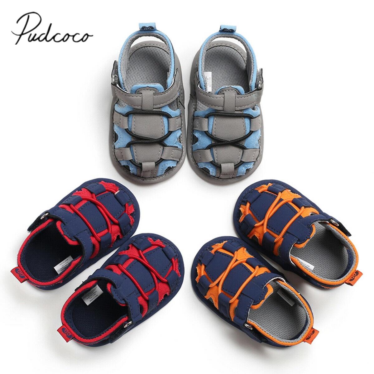 UK Infant Baby Boy Girl Summer Sandals Casual Soft Crib Shoes Prewalker 0-18M