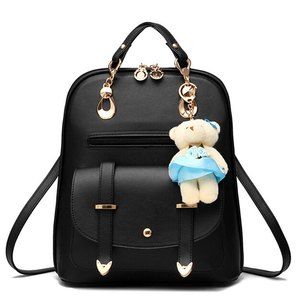 Image 2 - Vogue Sterne 2020 frauen rucksack leder rucksäcke frauen reisetasche schule taschen rucksack frauen reisetaschen Rucksack taschen LS535