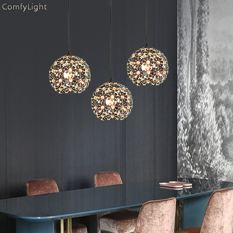 Modern crystal Pendant Lights Nordic Dining Room Kitchen/bedroom Light Designer Hanging Lamps Avize Lustre Lighting led lamps modern led crystal chandelier lights living room bedroom lamps cristal lustre chandeliers lighting pendant hanging wpl222