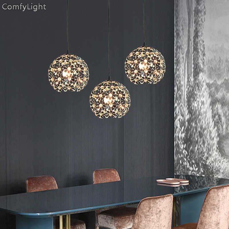 Современный хрустальный подвесной светильник s, скандинавский светильник для столовой, кухни/спальни, дизайнерские подвесные лампы, подвесной светильник, светящийся светильник, светодиодные лампы