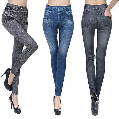 NEW Women Denim Jeans Sexy Skinny Leggings Jeggings Stretch Pants Trousers dkny jeans women s printed denim ankle jeggings 2p multi