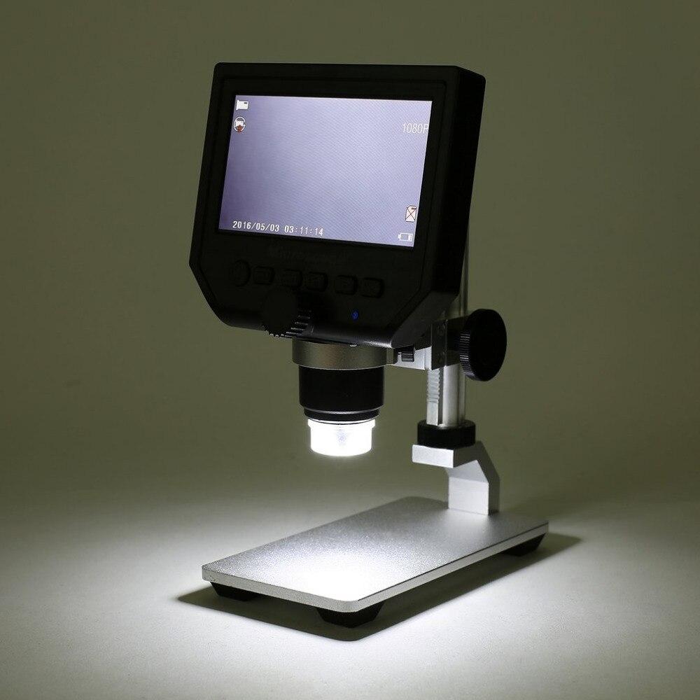 G600 Portatile 1-600X Ingrandimento Continua 4.3 Display LCD 3.6MP Elettronico Microscopio Digitale con Basamento In Metallo RegolabileG600 Portatile 1-600X Ingrandimento Continua 4.3 Display LCD 3.6MP Elettronico Microscopio Digitale con Basamento In Metallo Regolabile