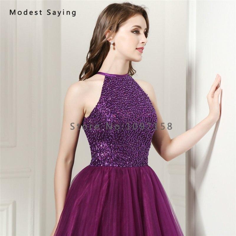 fa47ffb04 Elegante uva púrpura una línea corta Vestidos de fiesta 2017 con cuentas  blusa Niñas 8th grado graduación Vestidos de alta escuela en Vestidos de  fiesta de ...