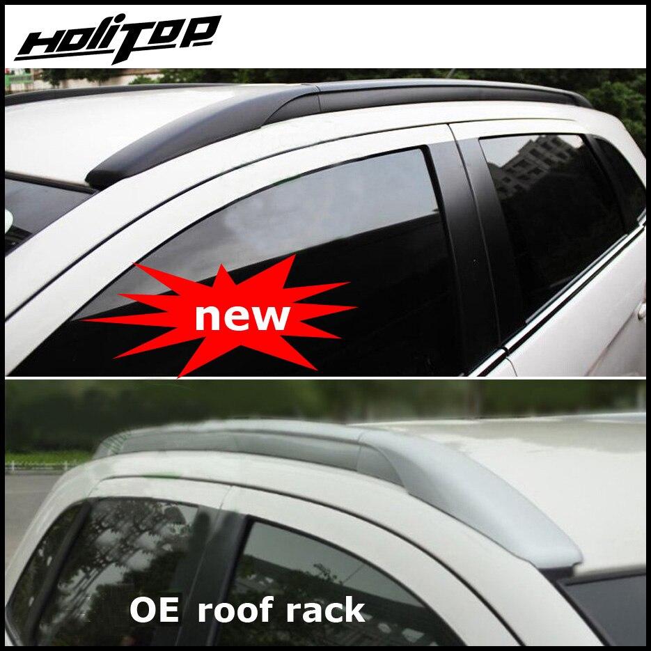 Galerie de toit rail/toit bar pour Mitsubishi ASX ou RVR 2010-2018, OE style, fixer par vis au lieu de adhésif, en alliage d'aluminium + ABS