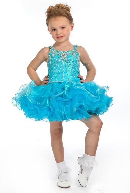 Здесь продается  Little Girls Pageant Gown Shiny Crystals Beading Cupcake Cute Baby Girls Birthday Dresses Kids Dresses CUSTOM any size   Детские товары