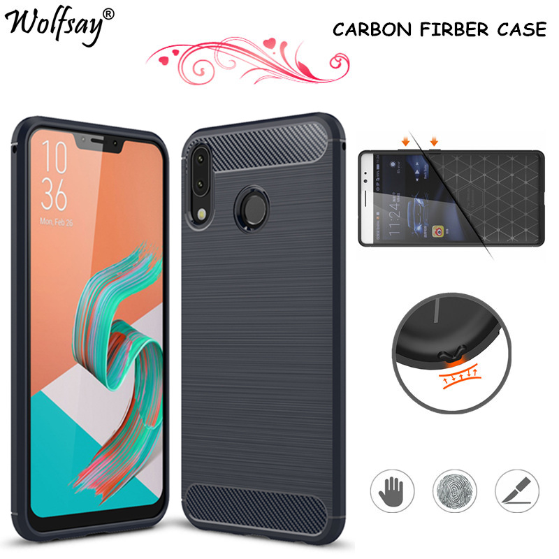 Carbon Finber Case For Asus ZenFone 5 ZE620KL Case Silicone TPU Full Cover For ASUS Zenfone 5 Cover ZE620KL ASUS_X00QD ZS602KL in Fitted Cases from Cellphones Telecommunications