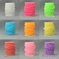 8mm Los Granos Redondos de 20 M Cadena DIY Decoración de La Boda Suministros de Disfraces de Colores de La Joyería de Acrílico Imitación de La Perla Garland Diy Perlas