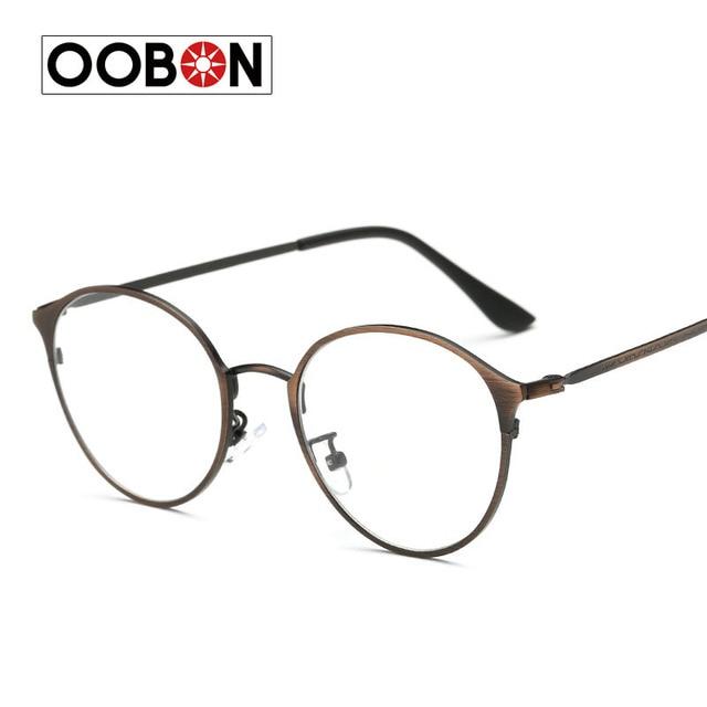 9c35506c56 OOBON 2017 New Glasses Frame Retro Full Rim Gold Eyeglass Frame Vintage  Spectacles Round Computer Glasses Unisex NO Degrees