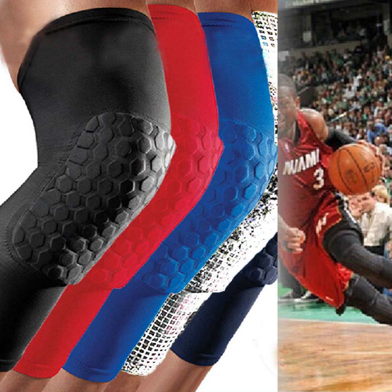 1 pc Adult Men Kids Sports Basketball Pad Leg Knee Long Sleeve Protector Gear Crashproof Legwarmers