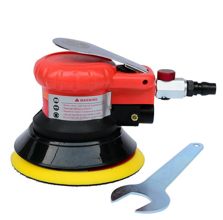 Swingable pneumatic eccentric grinding machine 125mm pneumatic sander 5 inch disc type pneumatic polishing machine vacuum type 125mm pneumatic sanding 5 inch disc type pneumatic polishing machine sand machine bd0128