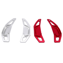 2pcs Red/Silver Aluminium Car Styling Steering Wheel Paddle Shifter DSG Extensions For Toyota Corolla 2014-2018 Camry 2012-2016