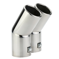 Car Tail Pipes Replacement Car Style Dual Pipe Stainless Steel Exhaust Tail Pipes Muffler Tips For