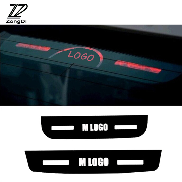 Zd car stickers m power for bmw f30 f10 f35 e90 e92 e93 acrylic brake lights