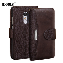 hot deal buy for xiaomi redmi note 4x pro cases 5.5 inch idools plain pu leather wallet covers phone bags cases for xiaomi redmi note 4x capa