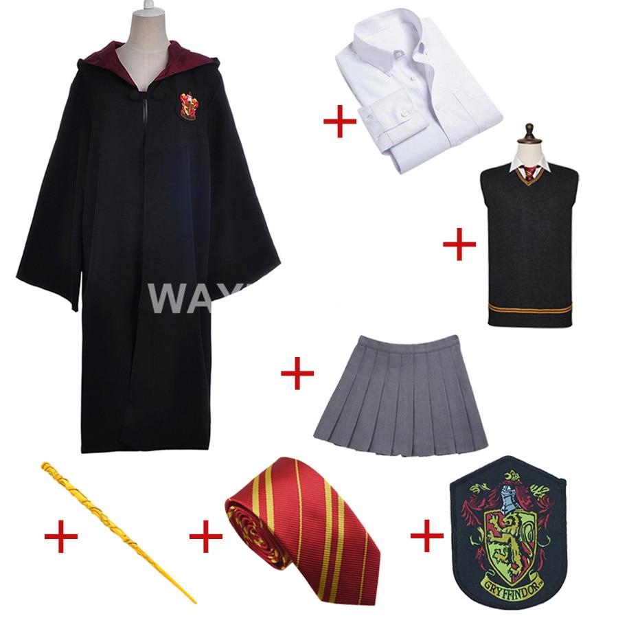 Gryffindor Uniform Hermione Granger Cosplay Costume Adult Version Cotton Halloween Party
