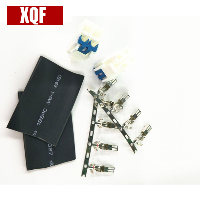 XQF  10pcs 4pin Power Connector Cable For YAESU ICOM KENWOOD IC-7000IC-7600 FT-450 TS-480