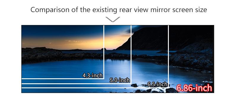 JADO D680S Car Dvr Camera Full HD 1080P Car Dvrs Dual Lens Recorder 6.86' Car Camera Dash cam ADAS Rearview Mirror Registrar 3