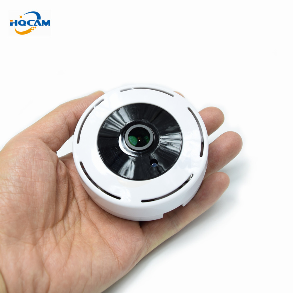 HQCAM HD 1080P 180Degree Panoramic Wide Angle MINI Cctv Camera Smart IPC Wireless Fisheye IP Camera P2P Security Wifi Camera hqcam full hd 1080p 180 degree mini ip camera monitor ip camera mini p2p plug play wide angle camera for 1 78mm fisheye lens