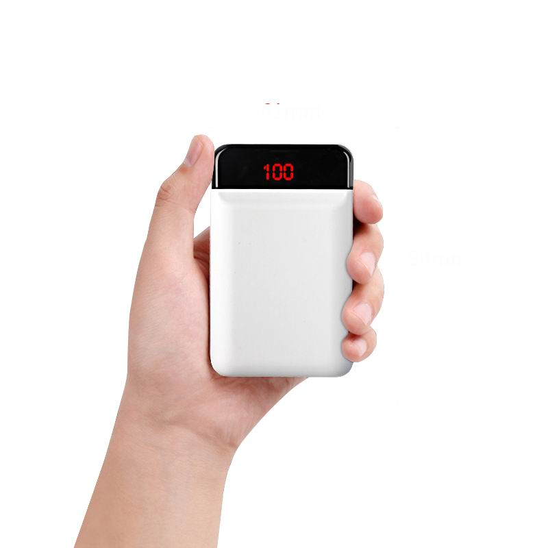 12000mAh Power Bank For iPhone Xiaomi Samsung External Battery Pack Mini Portable Dual USB Fast Charger LCD Powerbank