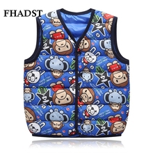 FHADST Hot Children Clothing Winter Outerwear&Coats Boys Character Thick Princess Girls Vest Kids Jackets Baby Warm Waistcoat