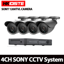 HD 1080P HDMI 4ch CCTV System sony sensor CCTV Camera 1200TVL 1.0MP AHD-NH/AHD-M Weatherproof AHD Camera Home Security System