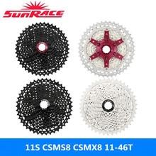 Original SunRace 11-speed cassette CSMS8 CSMX8 11-46T bicycle cassette flywheel for Shimano SRAM flywheel Sunrace 11-46 11s cass