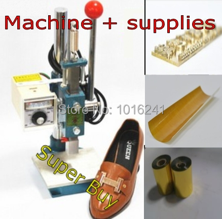 Stampatrice a caldo a caldo 25x60mm per scarpe + stampo + rotolo di - Elettronica per ufficio