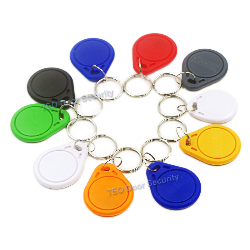 10Pcs Colorful 125khz EM4100 TK4100 ID Card Token Tags Key Keyfobs Chain For RFID Proximity ID Smart Entry Access Card Tag non standard die cut plastic combo cards die cut greeting card one big card with 3 mini key tag card