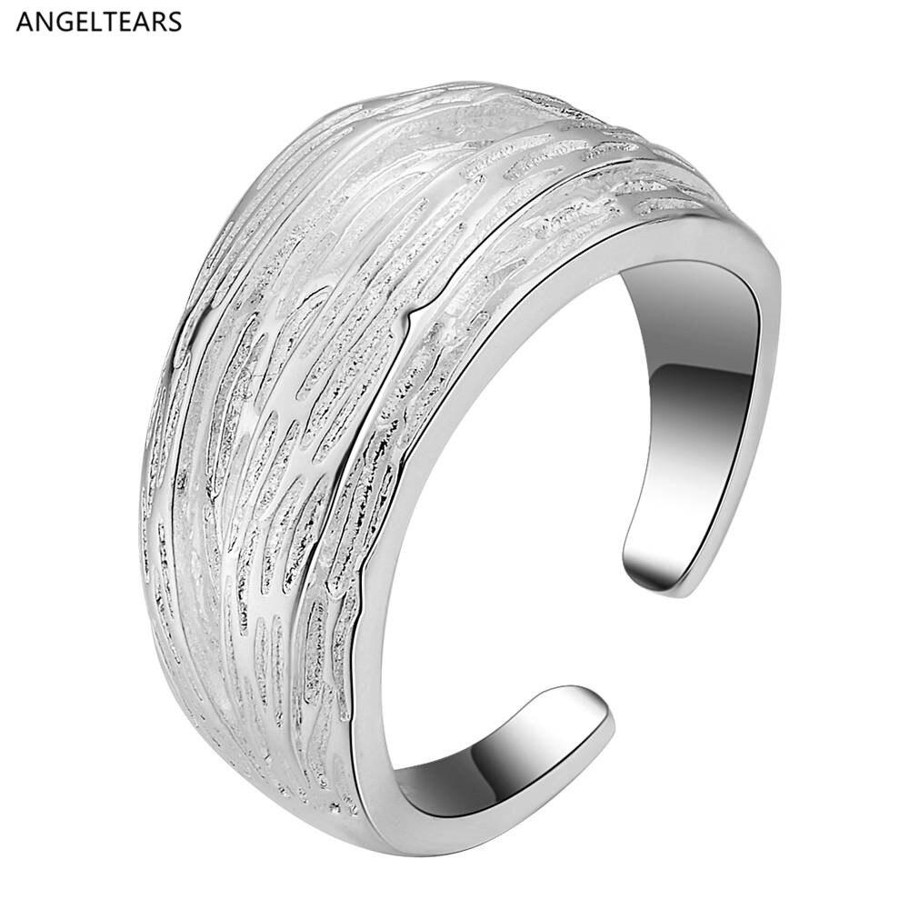 Prix bas promotion argent plaqué ouverture bague bijoux de mode pour les femmes bonne qualité designer anel feminino