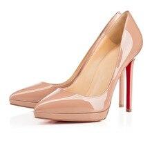 ZK mode spitz frauen shoes12cm high heels sexy fashion party pumps schuhe große größe 34–45