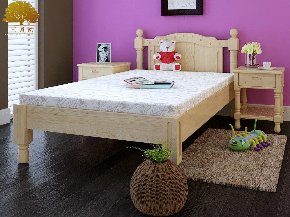 Verbeterde kinderbed!!! grenen houten bed met rails 3 10 jaar oude