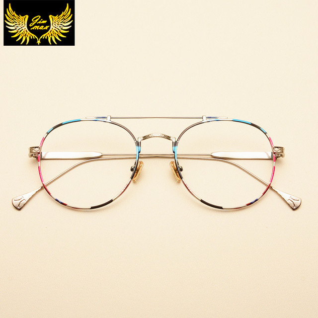 9d862194de6 2017 Retro Style Men Women Round Alloy Eye Glasses New Fashion Style  Quality Optical Frame Brand